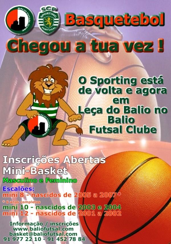 Minibasquete em Leça do Balio - Chegou a tua vez!!!