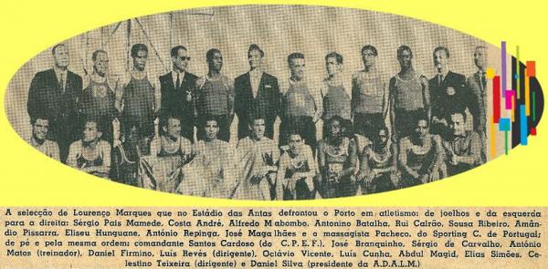 """""""Antigas estrelas do atletismo moçambicano"""": Seleção de L. Marques vs Porto no Estádio das Antas"""