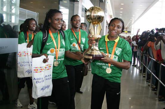 """Taça dos Campeões Africanos em Basquetebol - Recepção calorosa às """"rainhas"""" de África!"""