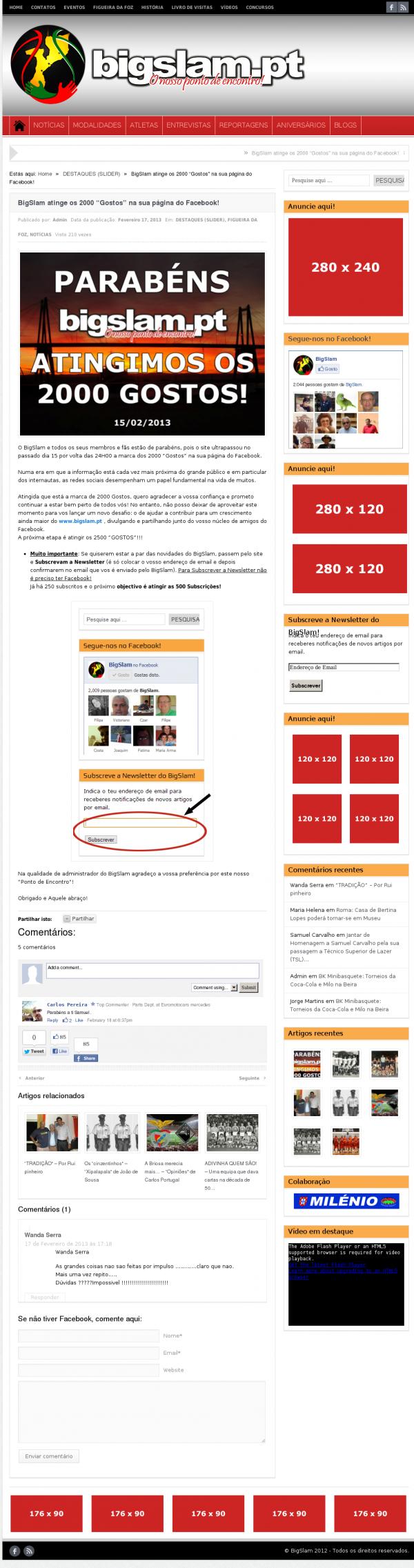 screenshot publicidade