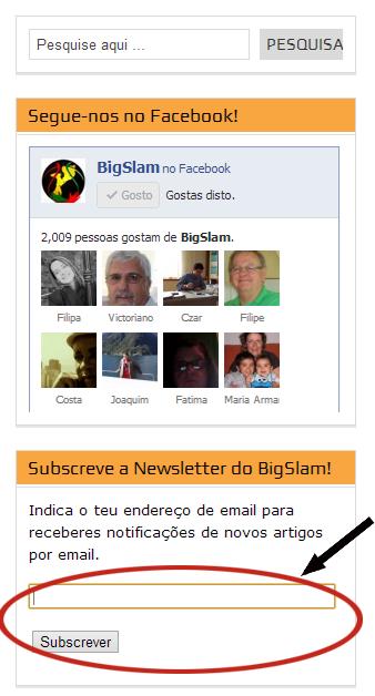 Subscrever Newsletter foto