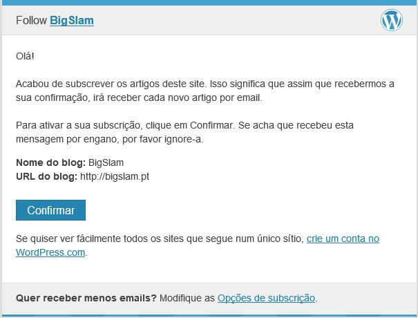 subscrever newsletter