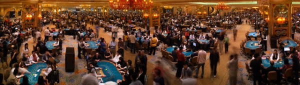 Crowded Gaming Floor of the Venetian Macau Casino