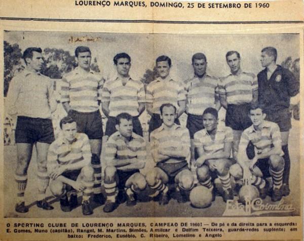 Eusébio alinhando pelo Sporting Clube de Lourenço Marques