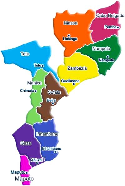 Mapa Moçambique ACTUAL