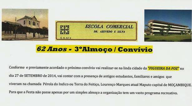 3º Almoço/Convívio da Escola Comercial L. Marques - 27 de Setembro de 2014