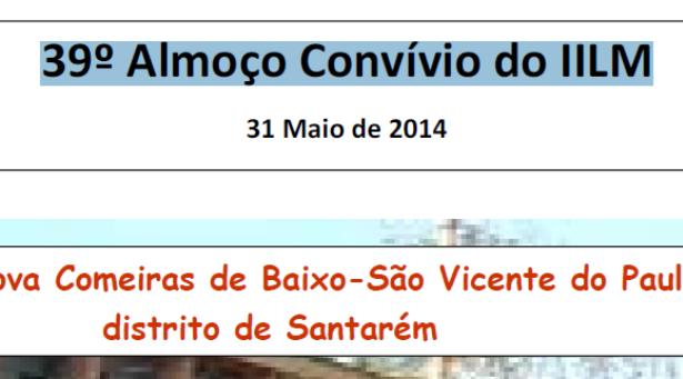 39º Almoço Convívio do IILM - 31 de Maio de 2014
