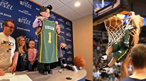 NBA - Criança de 5 anos com leucemia faz contrato de um dia com a equipa dos Utah Jazz