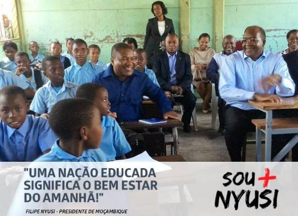 Nyusi numa escola