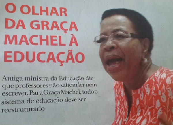 Recorte dum jornal - Graca Machel