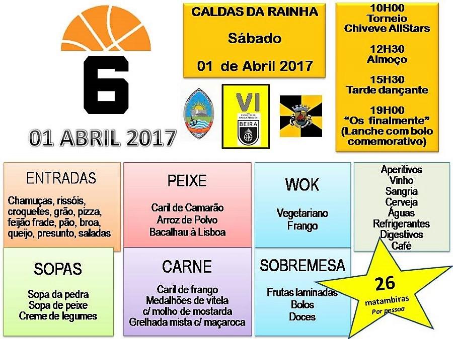 6º Encontro de desportistas da Beira - 1 de ABRIL nas Caldas da Rainha